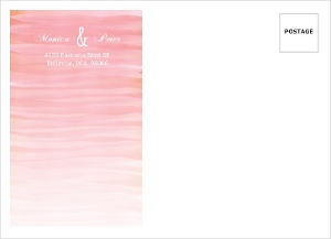 Monogram Pink Watercolor Ombre Custom Envelope