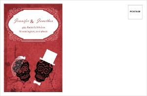 Dia de los Muertos Bride Groom Red Halloween Custom Envelope