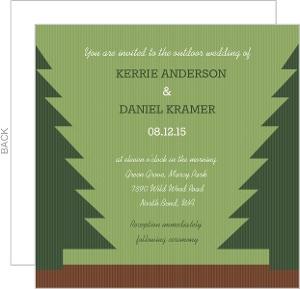 Pine Tree Country Wedding Invite