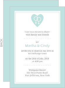 Wedding Invite Women Symbol Gay Invite