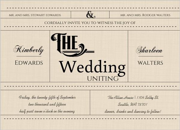 Western Love Gay Wedding Invitation Gay Wedding Invitations