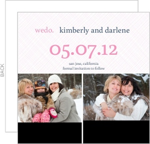 Modern Pink and Navy Simple We Do Same Sex Save The Date