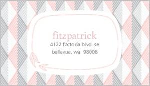 Modern Pink Geometric Pattern Address Label