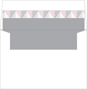 Modern Pink Geometric Pattern Envelope Liner