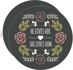 Floral Monogram Bouquet Wedding Invitation