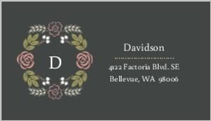 Floral Monogram Bouquet Address Label