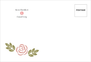 Floral Monogram Bouquet Custom Envelope