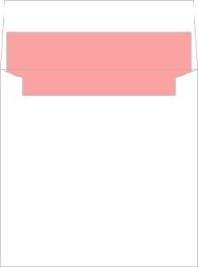Floral Monogram Bouquet Envelope Liner