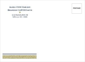 Gold Shimmer Custom Envelope