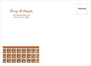 Geometric Rustic Copper Pattern Custom Envelope