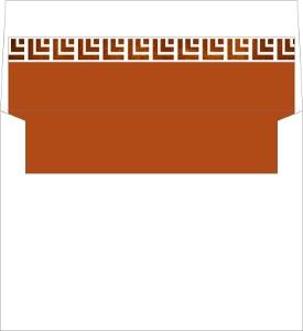 Geometric Rustic Copper Pattern Envelope Liner