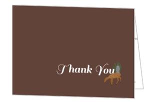 Woodland Animals Woodgrain Wedding Thank You Card