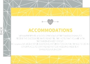 Lemon and Gray Triangular Modern Enclosure Card