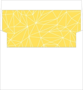 Lemon and Gray Triangular Modern Envelope Liner