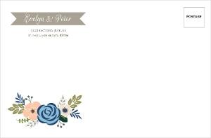 Springtime Floral Custom Envelope