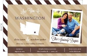 Modern Statement Wedding Invitation