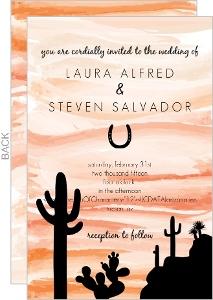 Orange Sky Desert Wedding Invitation