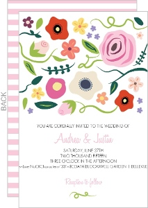 Bright Blossoms Wedding Invitation