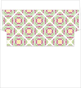 Pink and Green Cacti Envelope Liner