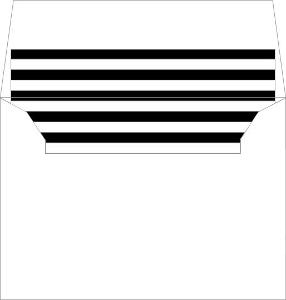 Flower Black Stripes Small Envelope Liner