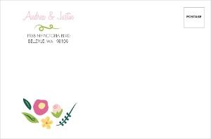 Bright Blossoms Envelope