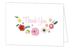Bright Blossoms Thank You Card