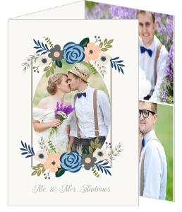 Springtime Floral Wedding Thank You Card
