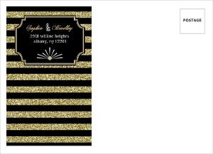 Gold Glitter 1920s Vintage Custom Envelope