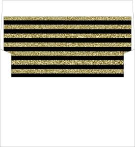 Gold Glitter 1920s Vintage Envelope Liner
