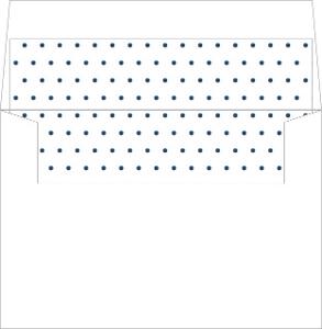Navy Intricate Lace Frame Envelope Liner
