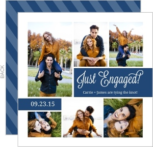 Navy Collage Memories Engagement Announcement