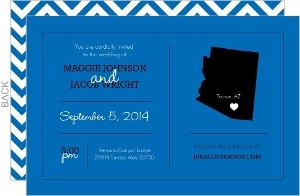 Bold Blue Statement Wedding Invitation