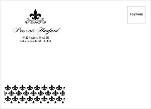 Black and White Fleur De Lis Custom Envelope