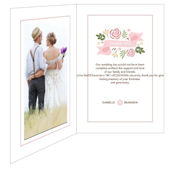 Modern Florals Wedding Thank You Card