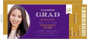 Celebration Ticket Graduation Invitation