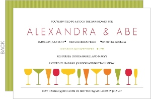 Colorful Bar Couples Shower Invitation