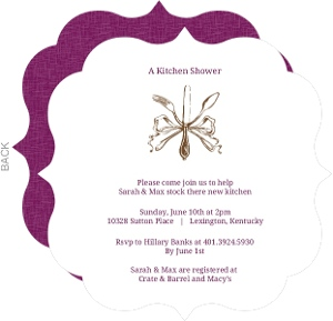 Elegant Silverware Couples Shower Invitation