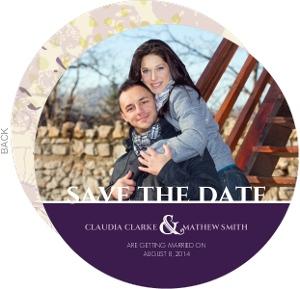 Purple Circle Save the Date