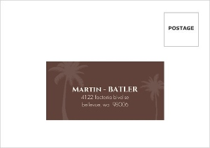 Textured Tropical Palm Tree Mailing Address Envelope