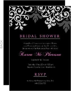Bridal Shower Flourish Pattern Invites