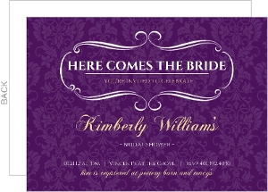Royal Purple and Gold Bridal Shower Invitation