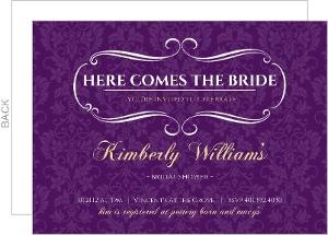 Royal Purple and Gold Bridal Shower Invitation