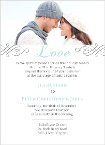 Believe Winter Wedding Invitation