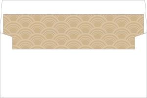 Art Deco Pattern Pink Envelope Liner