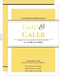 Classic Pale Yellow Wedding Invitation