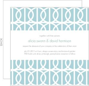 Modern Blue Circle Wedding Invitation