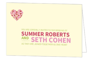 Bright and Bold Pink Wedding Invitation