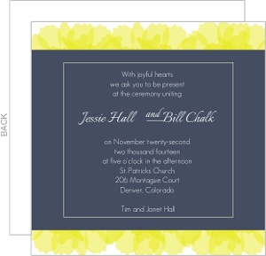 Soft Yellow Petals Wedding Invitation