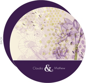 Elegant Purple Floral Wedding Invitation