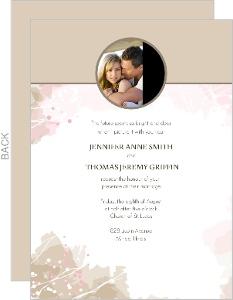 Pastel Watercolor Wedding Invitation
